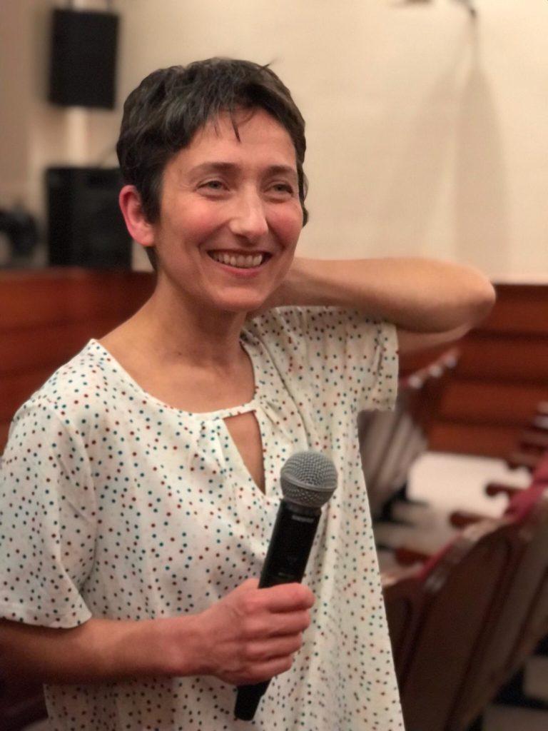 Eva Parra Hermida en un momento del debate sobre Las Edades de la Mujer