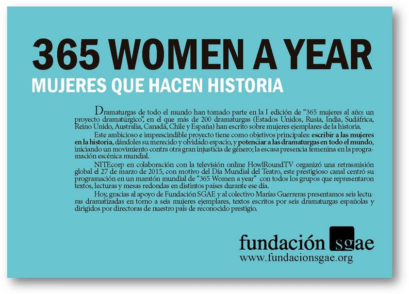 Flyer 365 Women a year 1