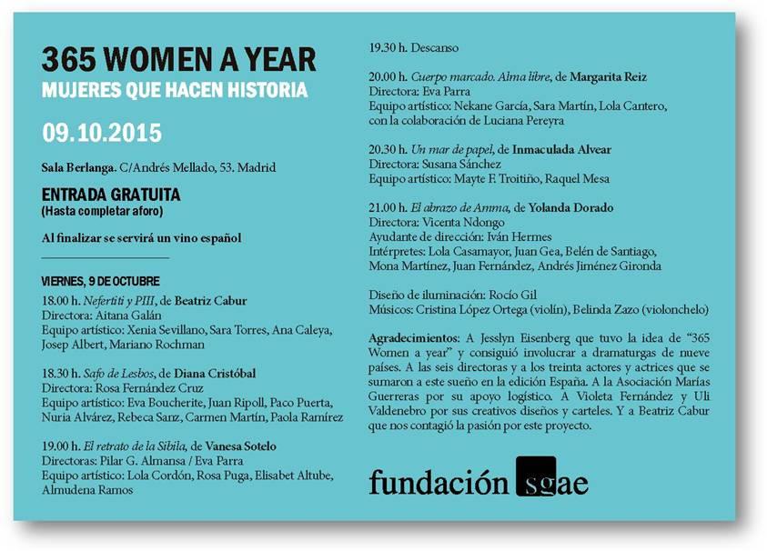 Flyer 365 Women a year 2